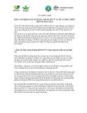 """Báo cáo nghiên cứu nông nghiệp """" BÁO CÁO KHẢO SÁT SỬ DỤNG THUỐC BVTV VÀ DƯ LƯỢNG TRÊN MỘT SỐ RAU QUẢ """""""