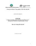 """Báo cáo nghiên cứu nông nghiệp """" Cải tiến các hệ thống canh tác kết hợp truyền thống (VAC) – Hướng sinh kế mới đối với nông dân nghèo ven biển """""""