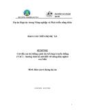 """Báo cáo nghiên cứu nông nghiệp """" Cải thiện hệ thống sản xuất nông nghiệp truyền thống (VAC) – Lựa chọn sinh kế mới cho người nghèo vùng ven biển """" MS4"""