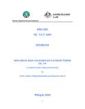 """Báo cáo nghiên cứu nông nghiệp """" công nghiệp rừng vùng nông thôn Việt Nam """" MS9, MS10"""