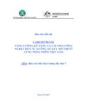 Dự án nghiên cứu nông nghiệp: TĂNG CƯỜNG KỸ NĂNG VÀ CẢI TIẾN CÔNG NGHỆ CHO CÁC XƯỞNG XẺ QUY MÔ NHỎ Ở VÙNG NÔNG THÔN VIỆT NAM ' MS6