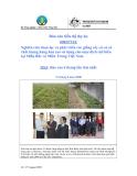 Báo cáo dự án (MS3): Nghiên cứu chọn lọc và phát triển các giống cây có củ có chất lượng hàng hoá cao sử dụng cho mục đích chế biến tại Miền Bắc và Miền Trung Việt Nam