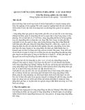 """Báo cáo nghiên cứu nông nghiệp """" QUẢN LÝ RỪNG CỘNG ĐỒNG Ở HÒA BÌNH – CÁC GIẢI PHÁP """""""