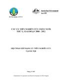 """Báo cáo nghiên cứu nông nghiệp """" CÁC ƯU TIÊN NGHIÊN CỨU CHĂN NUÔI THÚ Y, GIAI ĐOẠN 2008 - 2012 ƯU TIÊN NGHIÊN CỨU TẠI HÀ NỘI """""""