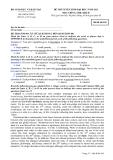 Đề thi tuyển sinh Đại học môn tiếng Anh khối D năm 2012 - Mã 942