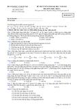 Đề thi tuyển sinh đại học khối A năm 2012 môn Hóa-Mã 273