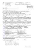 Đề thi tuyển sinh đại học khối A năm 2012 môn Hóa-Mã 318