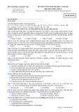 Đề thi tuyển sinh đại học khối A năm 2012 môn Hóa-Mã 482