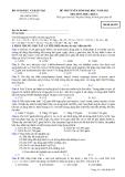 Đề thi tuyển sinh đại học khối A năm 2012 môn Hóa-Mã 925