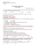 Đề thi thử tốt nghiệp môn vật lý_THPT Chuyên LÊ HỒNG PHONG