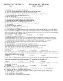 Đề thi thử tốt nghiệp môn vật lý_THPT Phú Nhuận