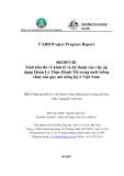 """Báo cáo nghiên cứu nông nghiệp """" Tính khả thi về kinh tế và kỹ thuật của việc áp dụng Quản Lý Thực Hành Tốt trong nuôi trồng thuỷ sản quy mô nông hộ ở Việt Nam - MS3 Đánh giá kinh tế và kỹ thuật về thực hành quản lý trong nuôi tôm ở Bắc Trung Bộ Việt Nam """""""