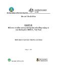Báo cáo: Điều tra và kiểm soát sự nứt hạt lúa trên đồng ruộng và sau thu hoạch ở ĐBSCL, Việt Nam (MS5)