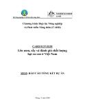 """Báo cáo nghiên cứu nông nghiệp """" Lên men, sấy và đánh giá chất lượng hạt ca cao ở Việt Nam - MS10 """""""