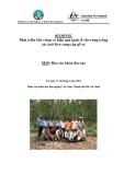 """Báo cáo nghiên cứu nông nghiệp """" Phát triển bền vững và hiệu quả kinh tế cho rừng trồng các loài Keo cung cấp gỗ xẻ - MS9 """""""