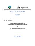 """Báo cáo nghiên cứu nông nghiệp """" Nghiên cứu, đào tạo và khuyến lâm trong lĩnh vựng công nghiệp rừng Việt Nam """""""