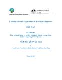 """Báo cáo nghiên cứu nông nghiệp """" Tăng cường kỹ năng và cải tiến công nghệ cho các xưởng xẻ quy mô nhỏ vùng nông thôn Việt nam - MS4: Sấy gỗ ở Việt Nam """""""