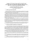 """Báo cáo nghiên cứu nông nghiệp """" NGHIÊN CỨU XÂY DỰNG CÔNG NGHỆ TÁI SỬ DỤNG NƯỚC NUÔI GIỐNG THỦY SẢN NHẰM MỤC ĐÍCH PHÁT TRIỂN SẢN XUẤT BỀN VỮNG VÀ KIỂM SOÁT Ô NHIỄM MÔI TRƯỜNG """""""