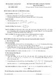 Đề ôn thi cao đẳng môn toán 2012 Khối A