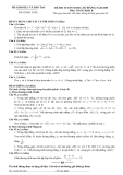 Đề luyện thi cao đẳng môn toán 2012 khối B