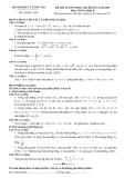 Đề luyện thi cao đẳng môn toán 2012 khối D