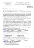 Đề thi đại học môn Anh văn năm 2009 (mã đề 174)