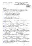 Đề luyện thi cao đẳng môn hóa học 2012 khối A_3