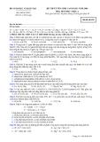 Đề luyện thi cao đẳng môn hóa học 2012 khối A_4