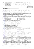 Đề luyện thi cao đẳng môn hóa học 2012 khối A_6