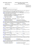Đề ôn thi trắc nghiệm cao đẳng môn hóa học 2012 khối A_2
