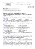Đề luyện thi đại học môn hóa học 2012 khối A_2