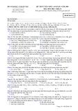 Đề luyện thi cao đẳng môn hóa học 2012 khối B_3
