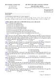 Đề ôn thi trắc nghiệm cao đẳng môn hóa học 2012 khối B_1