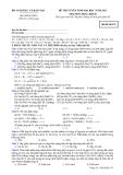 Đề ôn thi trắc nghiệm đại học môn hóa học 2012 khối B_1