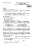 Đề ôn thi trắc nghiệm đại học môn hóa học 2012 khối B_2