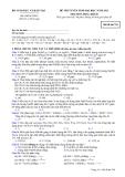 Đề ôn thi trắc nghiệm đại học môn hóa học 2012 khối B_5
