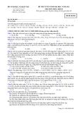 Đề ôn thi trắc nghiệm đại học môn hóa học 2012 khối B_6