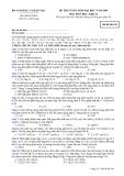 Đề luyện thi đại học môn hóa học 2012 khối B_1