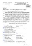 Đề luyện thi đại học môn tiếng pháp 2012_2