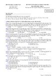 Đề luyện thi cao đẳng môn hóa học 2012 khối A_7