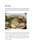 Phở chay