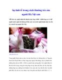 Sự tinh tế trong cách thưởng trà của người Hà Nội xưa