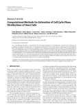 "Báo cáo hóa học: "" Research Article Computational Methods for Estimation of Cell Cycle Phase Distributions of Yeast Cells"""