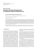 """Báo cáo hóa học: """" Research Article Extraction of Protein Interaction Data: A Comparative Analysis of Methods in Use"""""""