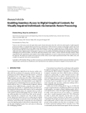 "Báo cáo hóa học: ""  Research Article Enabling Seamless Access to Digital Graphical Contents for Visually Impaired Individuals via Semantic-Aware Processing"""