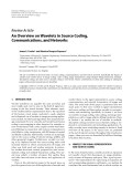 "Báo cáo hóa học: "" Review Article An Overview on Wavelets in Source Coding, Communications, and Networks"""