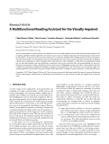 """Báo cáo hóa học: """"  Research Article A Multifunctional Reading Assistant for the Visually Impaired"""""""