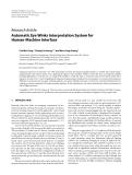 "Báo cáo hóa học: "" Research Article Automatic Eye Winks Interpretation System for Human-Machine Interface"""