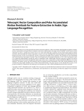 """Báo cáo hóa học: """" Research Article Telescopic Vector Composition and Polar Accumulated Motion Residuals for Feature Extraction in Arabic Sign Language Recognition"""""""