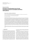 """Báo cáo hóa học: """" Research Article Extraction of 3D Information from Circular Array Measurements for Auralization with Wave Field Synthesis"""""""